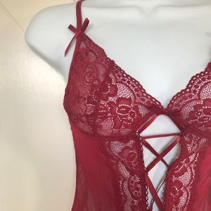Other - Red Lace Babydoll Lingerie